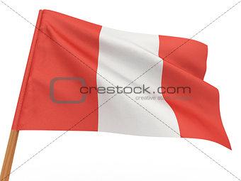 flag fluttering in the wind. Peru