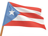 flag fluttering in the wind. Puerto-Rico