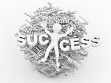 Conceptual image of success