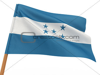 flag fluttering in the wind. Honduras
