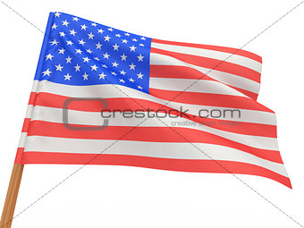 flag fluttering in the wind. USA.
