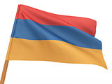 flag fluttering in the wind. Armenia