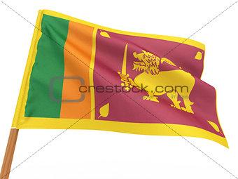 flag fluttering in the wind. Sri-Lanka.