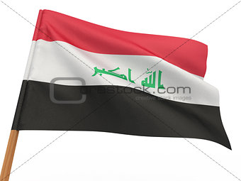 flag fluttering in the wind. Iraq