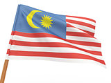 flag fluttering in the wind. Malaysia