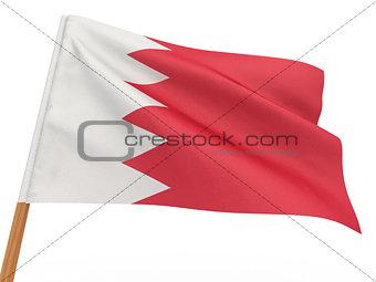 flag fluttering in the wind. Bahrain