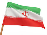 flag fluttering in the wind. Iran