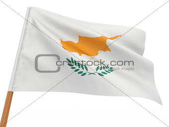 flag fluttering in the wind. Cyprus