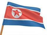 flag fluttering in the wind. North Korea