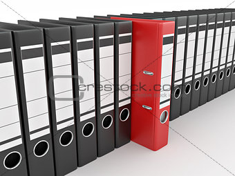 Archive. Many folders on white isolated background