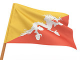 flag fluttering in the wind. Butan