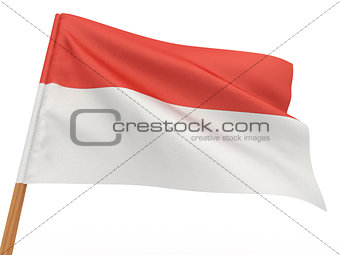 flag fluttering in the wind. Indonesia