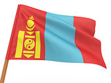 flag fluttering in the wind. Mongolia