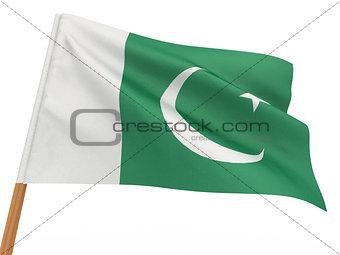 flag fluttering in the wind. Pakistan