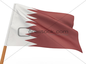 flag fluttering in the wind. Qatar
