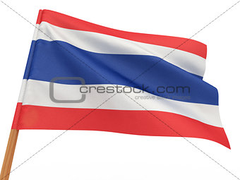 flag fluttering in the wind. Thailand