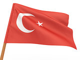 flag fluttering in the wind. Turkey