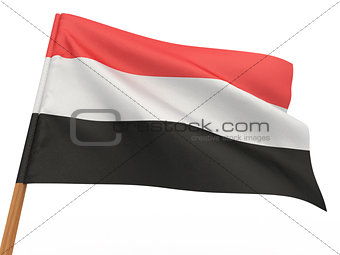 flag fluttering in the wind. Yemen
