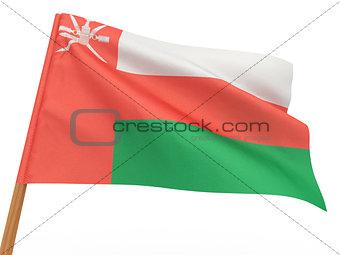 flag fluttering in the wind. Oman