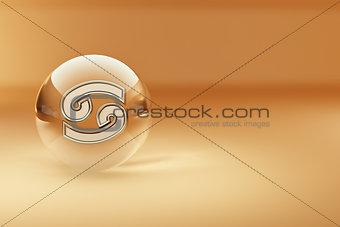 Cancer. Astrological symbol.