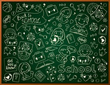 Vector Background With School Blackboard
