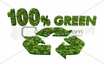 one hundred percent green and recyclable