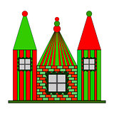 Multicolour design castle