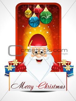 Chirstmas background with santa claus