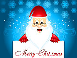 Chirstmas background with santa
