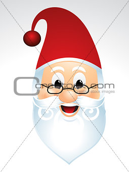 santa face cartoon