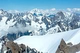 Mont Blanc mountain massif (view from Aiguille du Midi Mount, Fr