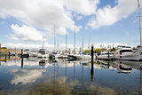 Marina Reflection at Granville Island Vancouver BC