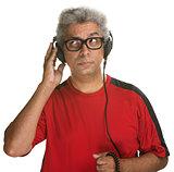 Curious Man Listening