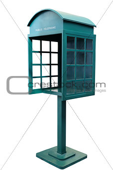 Green Antique phone booth