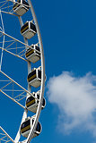 White Ferris wheel Horizontal