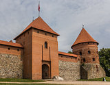 Gate to the Trakai red brick castle