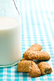 wholemeal cookies with milk