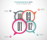 Infographics concept background with stylish bubbles.