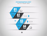 Infographics concept background to display your data in a stylish way.