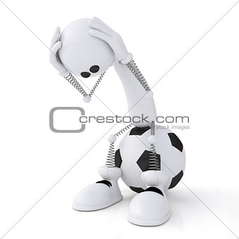 3d person football goalkeeper.