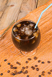 Refreshing iced coffee