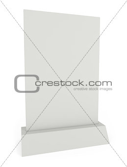 Advertisement and Menu Panel isolated on white