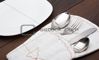 Pouch with fork, spoon and knife