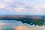 Aerial view of Denpasar on Bali