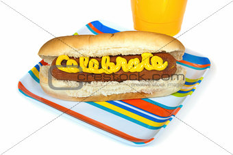 celebration hot dog