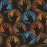 Hand art tile