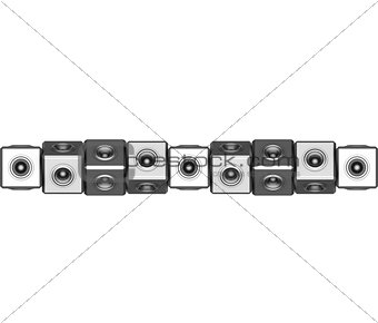3d sound system woofer abstract dj deejay set