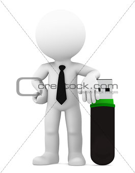 Business technology concept. Isolated
