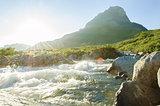 Wild river sun