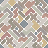 Vector abstract pattern - vintage seamless light color figured b